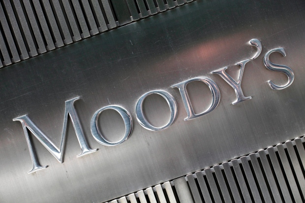 This August 2010 file photo shows a sign for Moody's Corp. in New York. (AP Photo/Mark Lennihan, File)