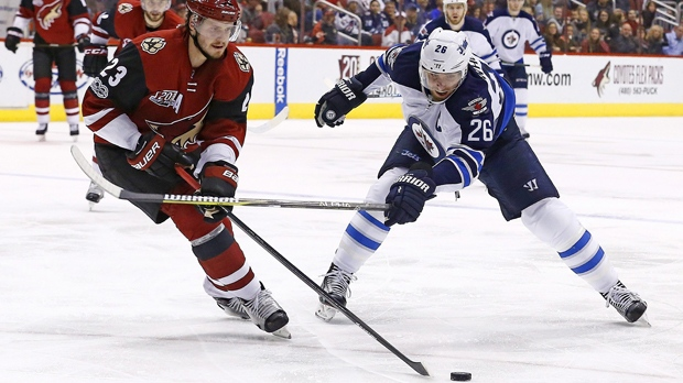 Winnipeg Jets lose 4-3 against Arizona Coyotes