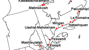 Innu communities of Quebec and Labrador and the two Naskapi communities (Kawawachikamach and Natuashish)