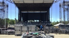 The stage is assembled at Bingemans for the Ever After Music Festival on Wednesday, June 1, 2016. (Dan Lauckner / CTV Kitchener)