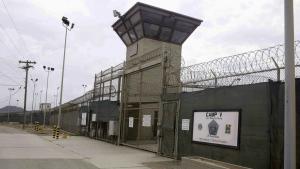 The entrance to Camp 5 and Camp 6 at the U.S. military's Guantanamo Bay detention centre, at Guantanamo Bay Naval Base, Cuba on June 7, 2014. (AP / Ben Fox)