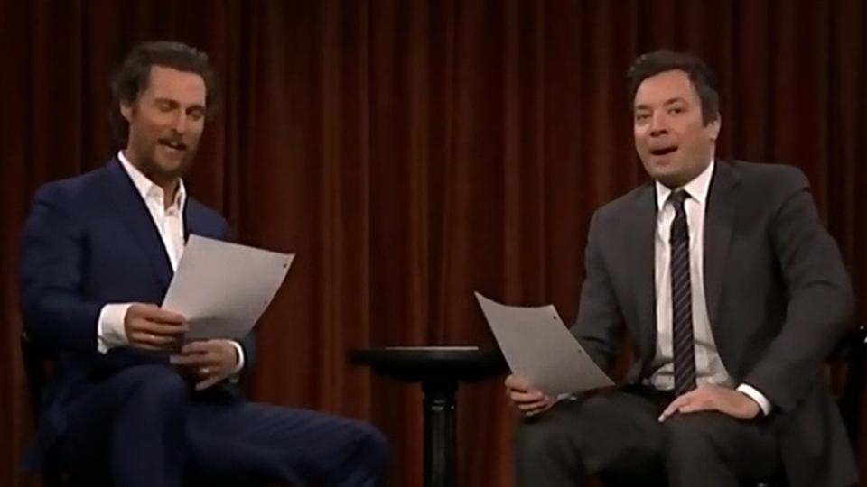 Matthew McConnaughey and Jimmy Fallon