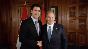 Justin Trudeau and Aga Khan (THE CANADIAN PRESS/Sean Kilpatrick)