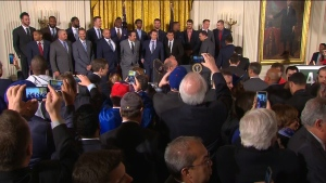 Chicago Cubs visit to White House