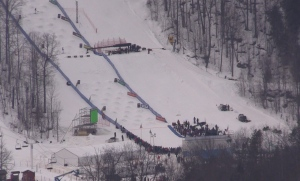 Film crews take over Beaver Valley Ski Hill near Markdale, Ont. on Monday, Jan. 16, 2017. (Roger Klein/ CTV Barrie)