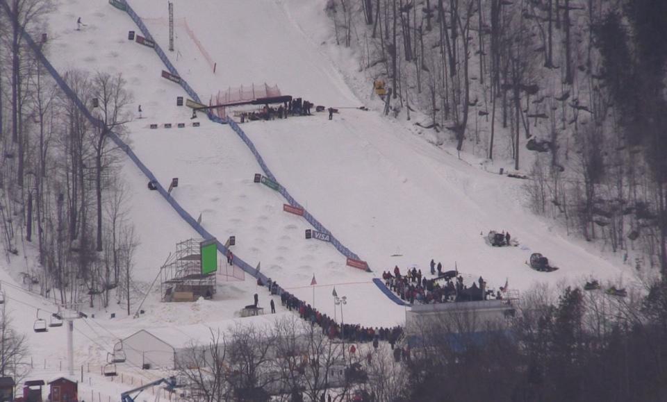 Film crews take over Beaver Valley Ski Hill near Markdale, Ont. on Monday, Jan. 16, 2017. (Roger Klein/ CTV Barrie)