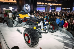 Chevrolet LEGO Movie Batmobile on display at NAIAS in Detroit. (Source: Chevrolet)