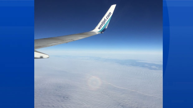 Brenda Amirault took this photo while on board a flight to Saskatoon last month!