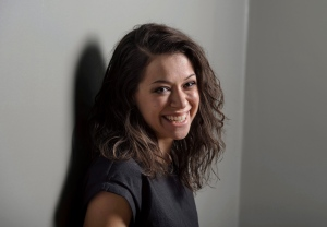 Actress Tatiana Maslany poses on the set of Orphan Black in Toronto on Monday, November 23, 2015. THE CANADIAN PRESS/Darren Calabrese