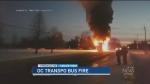 CTV Ottawa: Double-Decker bus fire