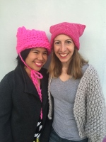 Krista Suh and Jayna Zweiman came up with the idea for pink knit 'Pussyhats.' (Photo courtesy Stefanie Kamerman, Pussyhat Project)