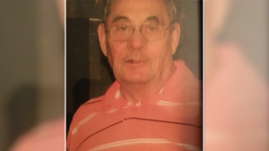 "76-year-old Francis Ronald Billings is described as a white male, 5'8""-5'10"" tall, 190 lbs, with mostly grey hair with traces of black. He was last seen wearing a black waist length leather coat, 2 tone blue knitted sweater and a camouflage baseball cap. (Smiths Falls Police Handout)"