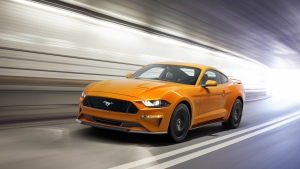 The 2018 Model Year Ford Mustang 5.0 GT is seen in this provided image. © The Ford Motor Company
