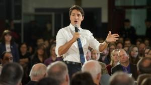 Prime Minister Justin Trudeau speaks during a town hall meeting Tuesday, January 17, 2017 in Sherbrooke, Quebec.THE CANADIAN PRESS/Ryan Remiorz