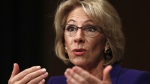 Education Secretary-designate Betsy DeVos testifies on Capitol Hill in Washington, Tuesday, Jan. 17, 2017, at her confirmation hearing before the Senate Health, Education, Labor and Pensions Committee. (AP / Carolyn Kaster)