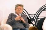In this March 20, 2015 file photo, film director Roman Polanski gestures during a debate at the Paris Book Fair in Paris. (AP Photo/Remy de la Mauviniere, File)