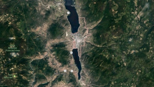 A map of Penticton, B.C. is seen in this Google Maps image. (Google Maps)