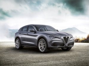 The Alfa Romeo Stelvio First Edition is shown. (FCA / Relaxnews)