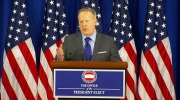 Trump's press secretary Sean Spicer speaks in Washington on Thursday, Jan. 19, 2016.
