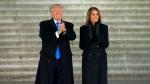 Donald Trump arrives at pre-inaugural event