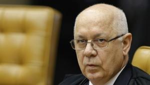 Brazil's Supreme Court Justice Teori Zavascki attends a session of the Supreme Court in Brasilia, Brazil on March 4, 2015. (AP / Eraldo Peres)