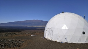 Six carefully selected scientists entered a geodesic dome called Hawaii Space Exploration Analog and Simulation, or HI-SEAS, located 8,200 feet above sea level on Mauna Loa on the island of Hawaii on Thursday, Jan. 19, 2017. (University of Hawaii)