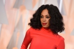 In this Feb. 22, 2015 file photo, Solange Knowles arrives at the Oscars at the Dolby Theatre in Los Angeles.(Photo by Jordan Strauss/Invision/AP)