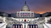 Dawn breaks behind the Capitol Dome as last minute preparations continue for swearing in of Donald Trump as the 45th President of the United States in Washington. Friday, Jan. 20, 2017 (AP Photo/Patrick Semansky)