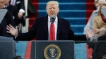 U.S. President Donald Trump delivers his inaugural address after being sworn in as the 45th president of the United States in Washington, on Jan. 20, 2017. (Patrick Semansky / AP)