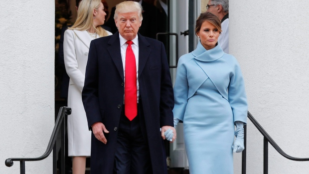 b235b1a58e7 What did Melania Trump wear  Social media reacts to inauguration ...