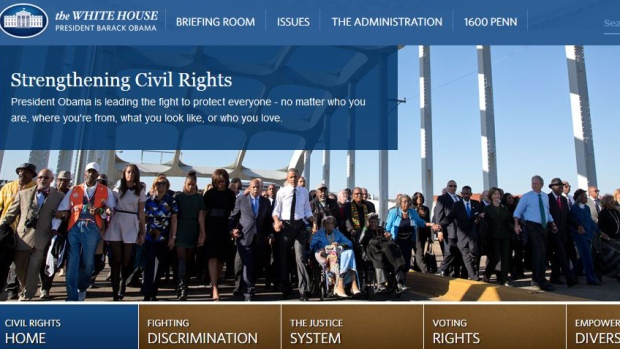 WhiteHouse.gov section on Civil Rights