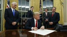 U.S. President Donald Trump Oval Office makeover
