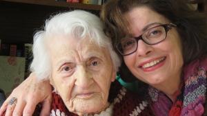 Knar Yemenidjian and Nazan Artinian at Yemenidjian's 107th birthday last year in 2016. (Nazan Artinian)