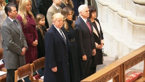 President Trump attends prayer service