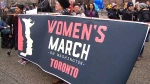 Women's rights march in Toronto, Ont.