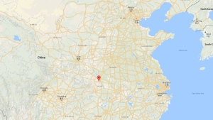 A statement from the local government in Nanzhang county said the rescue work had been hampered by a 150-ton rock that had fallen on the site. (Google Maps)