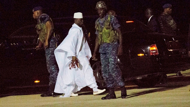 West African troops near Gambia's capital after Jammeh flees