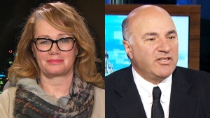 Composite image of Arlene Dickinson, left, and Kevin O'Leary. (CTV News)