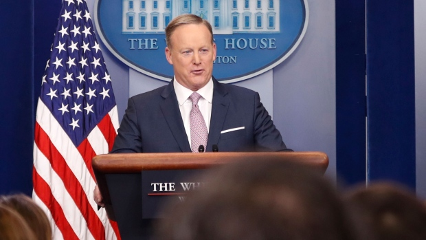 White House press Secretary Sean Spicer speaks during the daily White House briefing, Monday, Jan. 23, 2017, in the briefing room of the White House in Washington. (AP Photo/Pablo Martinez Monsivais)