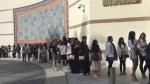 Kim Kardashian West's fans queue for attending her make-up masterclass at Musichall in Dubai, United Arab Emirates on Friday, Jan.13, 2017. (AP / Kamran Jebreili)