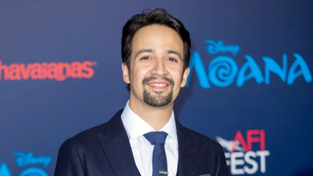 "Lin-Manuel Miranda arrives at the ""Moana"" world premiere in Los Angeles on Nov. 14, 2016. (Willy Sanjuan/Invision/AP)"
