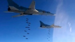 Russian air force Tu-22M3 bombers strike Islamic State targets in Syria, on Jan. 23, 2017. (Russian Defence Ministry Press Service via AP)