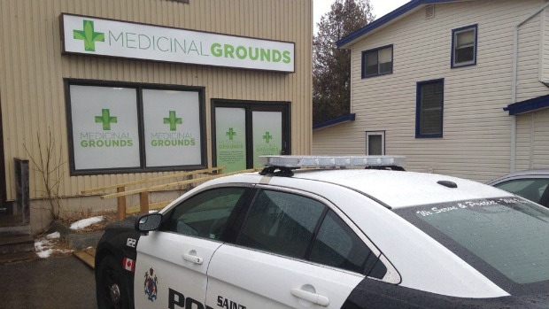 Police raided six medical marijuana dispensaries in the Saint John area today, saying they know federal legal changes are coming but the New Brunswick stores are operating illegally for now.