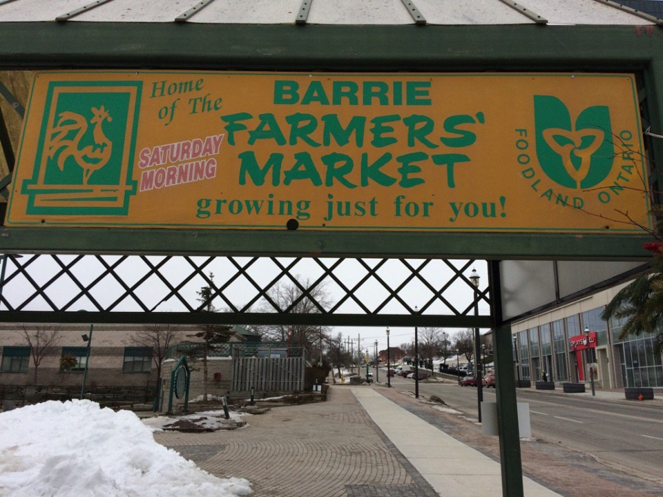 The Barrie Farmers' Market can be seen in Barrie, Ont. on Tuesday, Jan. 24, 2016. (Rob Cooper/ CTV Barrie)