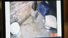 Photo taken of basement where girl was chained up