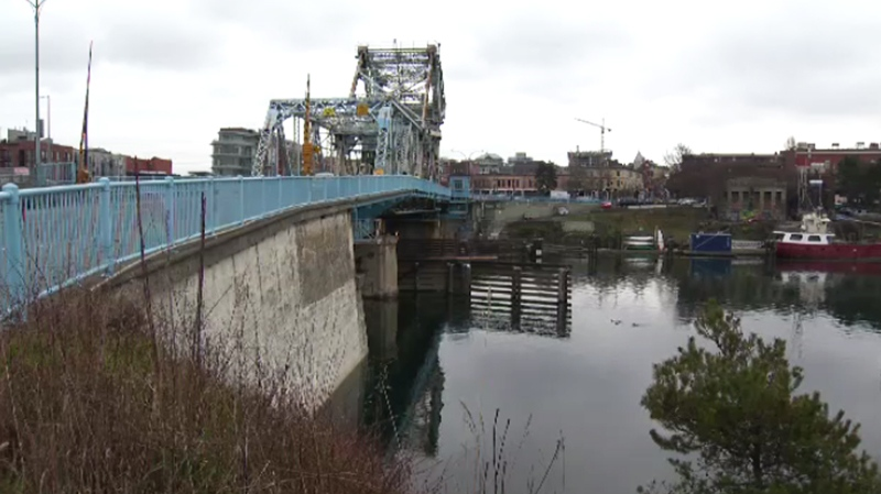 The Johnson Street Bridge, slated for replacement, is shown on Jan. 25, 2017. (CTV Vancouver Island)