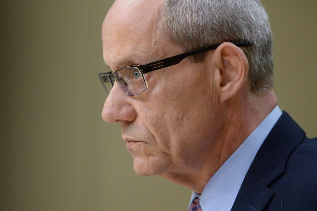 In this file photo, Canadian Forces ombudsman Gary Walbourne appears at a Senate veterans affairs committee in Ottawa on Wednesday, May 4, 2016. (Sean Kilpatrick / THE CANADIAN PRESS)