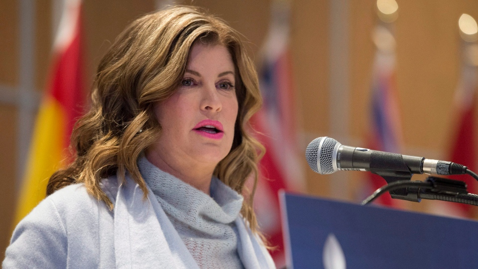 Conservative interim Leader Rona Ambrose speaks at the opening of a national caucus meeting in Quebec City on Thursday, January 26, 2017. (THE CANADIAN PRESS/Jacques Boissinot)
