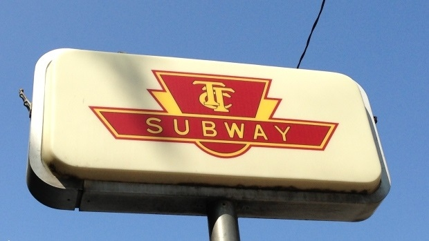 Toronto Transit Commission sign is shown. (Chris Kitching/CP24)