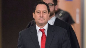 Former Montreal mayor Michael Applebaum leaves a courtroom following a verdict Thursday, January 26, 2017 in Montreal. Applebaum was found guilty of eight of the 14 corruption-related charges against him. THE CANADIAN PRESS/Paul Chiasson